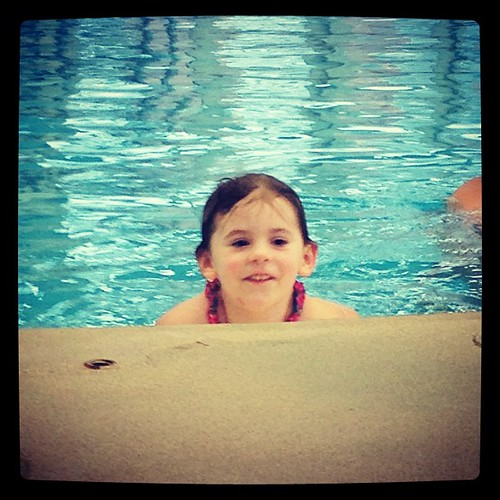 Two seconds later, Avi starts singing a song about being a mermaid. She will have a career in song writing by 5. #ilovemyfamily #mydaughter #swimming #singing #songwritingcareer