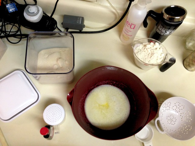 Making shortbread cookies - set up
