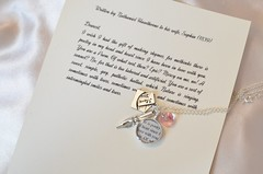 Nathaniel Hawthorne Love Letter Charm Necklace by Ciarrai Studios