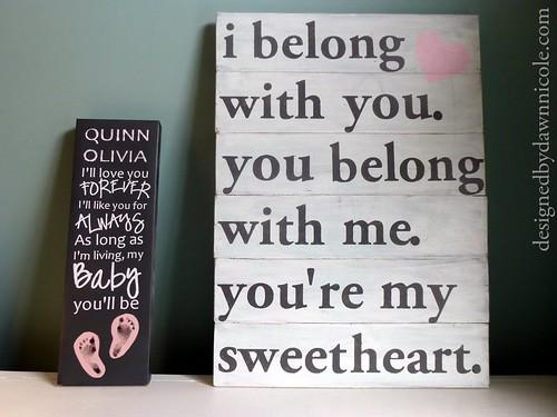 {Sweetheart} Rustic Wood Sign