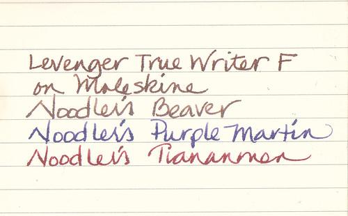 Noodler's Ink Test On Moleskine