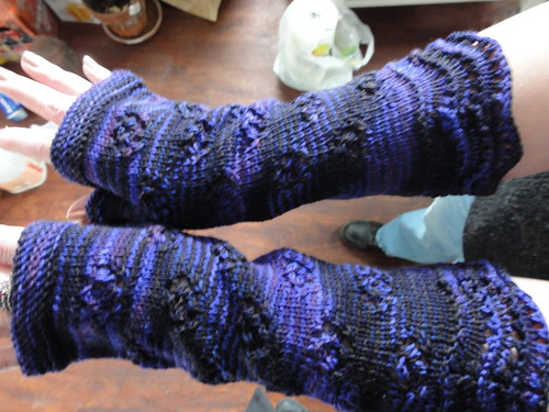 Downton Abbey Mystery KAL Gauntlets