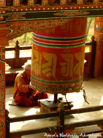 Turning a Prayer Wheel