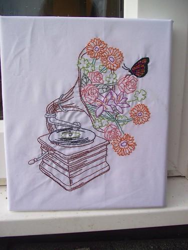 Floral gramophone