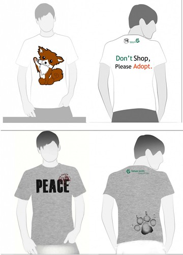 NUS PEACE Puppy Mill t-shirts