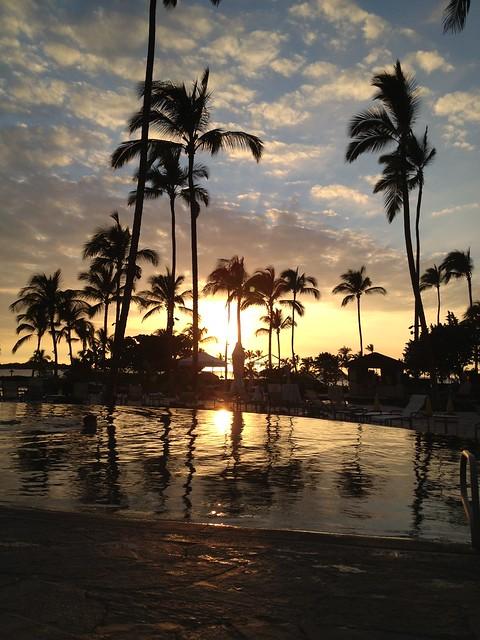 Sunset at the Waikoloa Beach Marriott