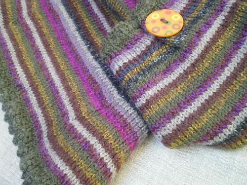 DIY Tricot - Quelques restes de laine pour un pull - patchcath