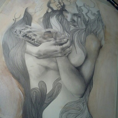 """Recollection"", in progress #art #drawing #illustration"