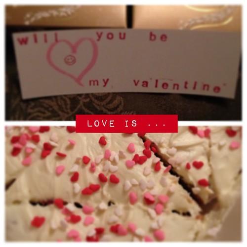 Feb 14 - love is ... {love letters, chocolates & homemade treats for my hubby aka my Valentine } #fmsphotoaday #love #valentine