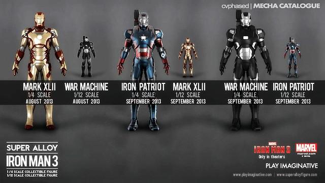 Super Alloy Iron Man 3 Collectible Figures