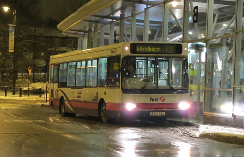 Dennis Dart SLF, First Greater Manchester R245 SBA, Oldham bus station