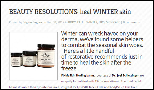 Dr. Joel Schlessinger and FixMySkin Healing balms featured on FashionDailyMag.com