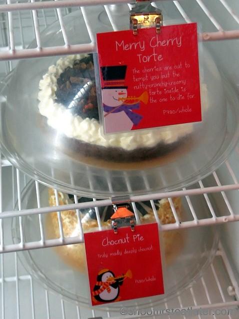 merry cherry torte P780 chocnut pie P680