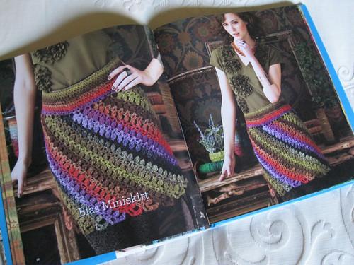 Crochet Noro - Bias Miniskirt
