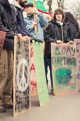 Protest v Sofii