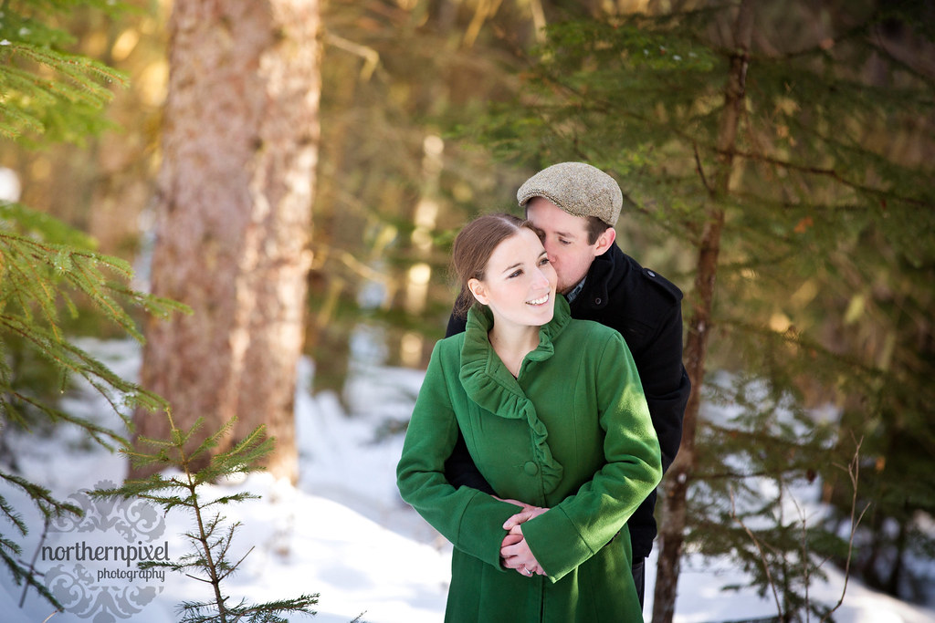 Winter Engagement Session Northern BC