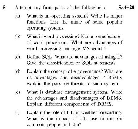 UPTU B.Tech Question Papers - TIT-201-Information Technology