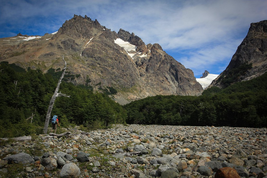 The rugged ranges and a good trail begin to attract tourists into the diverse Reserva Nacional Cerro Castillo. Aysen, Patagonia, Chile.