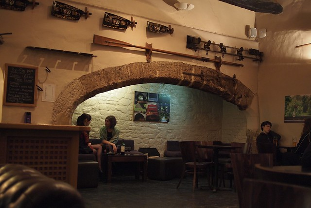The new JCR bar, once the college kitchens, and formerly part of St Johns' hospital and lazar-house. Those arches are chimneys where they'd roast the meat on spits.