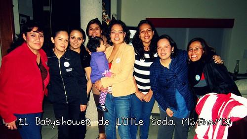 Las asistentes al Babyshower de #littlesoda. :D