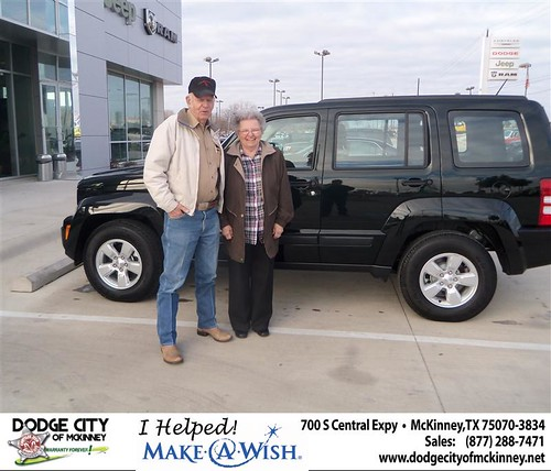 Congratulations to Carlos Morse on the 2012 Jeep Liberty by Dodge City McKinney Texas
