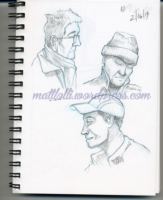 Matt Lolli sketchbook portraits.