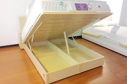 掀床工廠推薦款-無框白橡透氣安全掀床