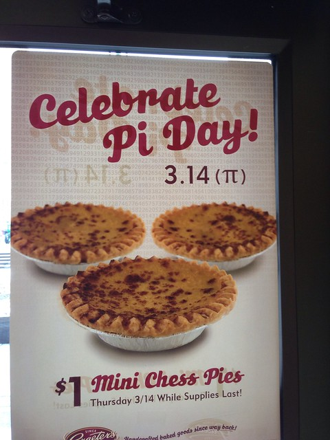 Graeter's Pi Day Sign