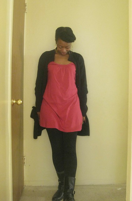 Pink, Black, Bangs, Braids