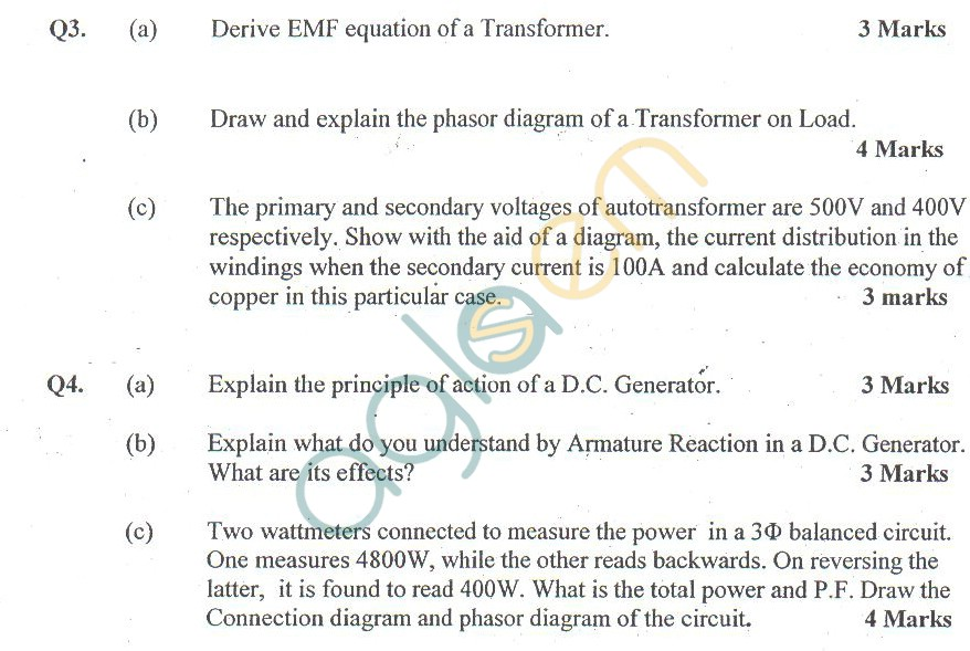 GGSIPU Question Papers Second Semester – Second Term 2011 – ETEC-112