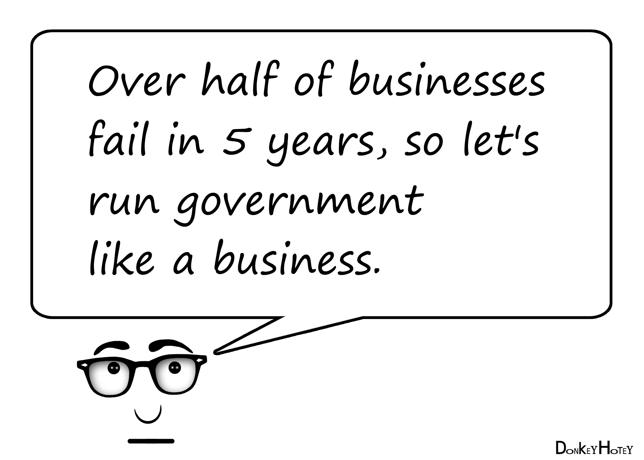 Over half of businesses fail in 5 years, so let's run
