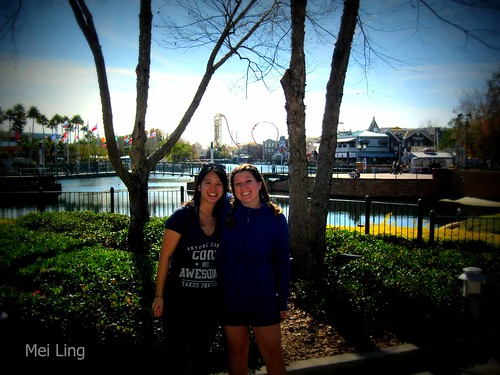 Kristen and I in Universal