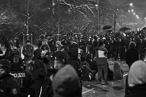 13 februar 2013 Sitzblockade  Parkstraße