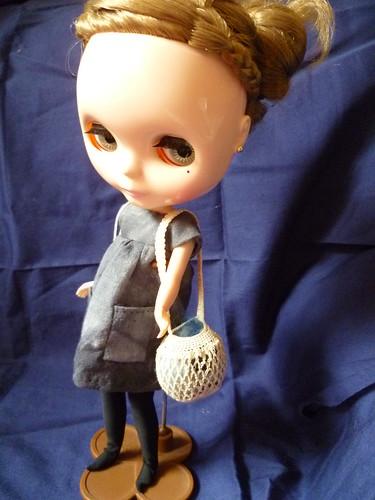 1/6 scale crochet market bag