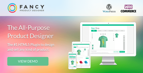 Fancy Product Designer v3.9.6 - WooCommerce WordPress