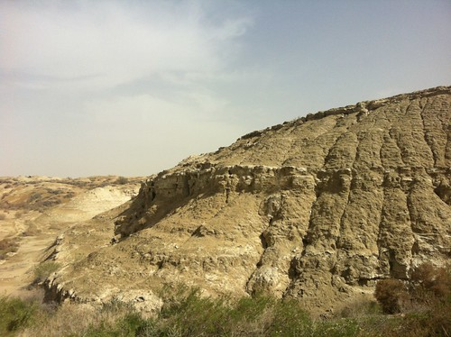 Sedimentary rock on the ride of the river Jordan (February 2013)