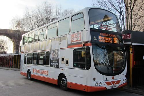 Volvo B9TL, Finglands YX08 FWF, Stockport bus station