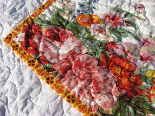 Mom's Flea Market Fancy Cross Quilt Binding and Backing