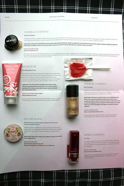 Glossybox Feb notes