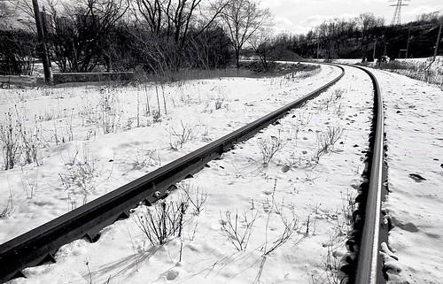 Railroad in snow