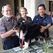 Governor Neil Abercrombie, his dog Kanoa and representatives of the Windward Community College veterinary technician program.