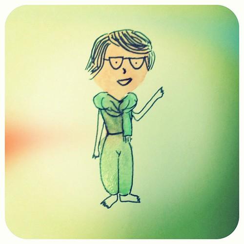 Primer intento de #caricatura de alguien concreto: mi Primi! ❤
