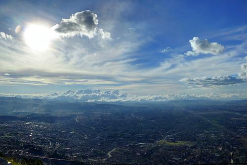 Bogotá desde el Cerro de Guadalupe - 4 pm