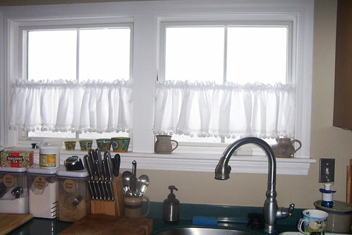 During Blizzard 2013 windows iced over in kitchen, no visibility thru them at all