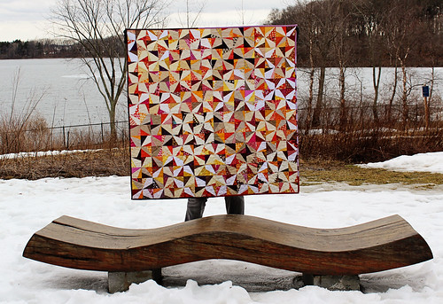 wonky pinwheel quilt finished