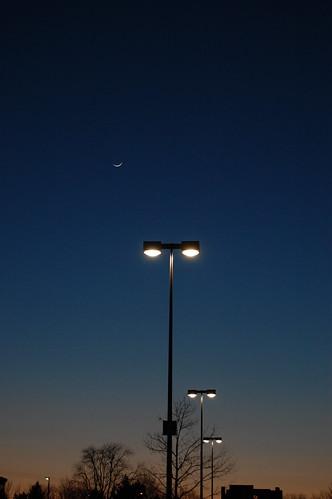 sunset at moonrise