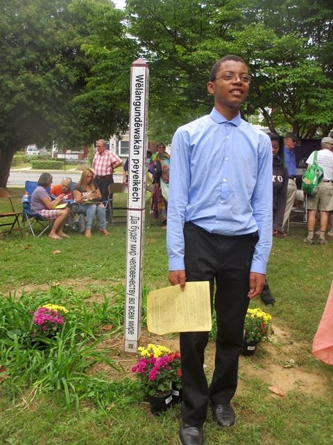 Bethlehem, PA - Peace Pole Planting during CNV Week of Actions 2016 (21)