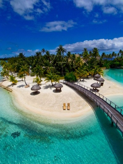 Polynesian paradise from the view of a kite ~ Filming ...
