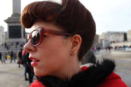Side hair in Trafalgar Square 2