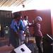 Batsi, Omega and Dudu at Book Cafe Harare